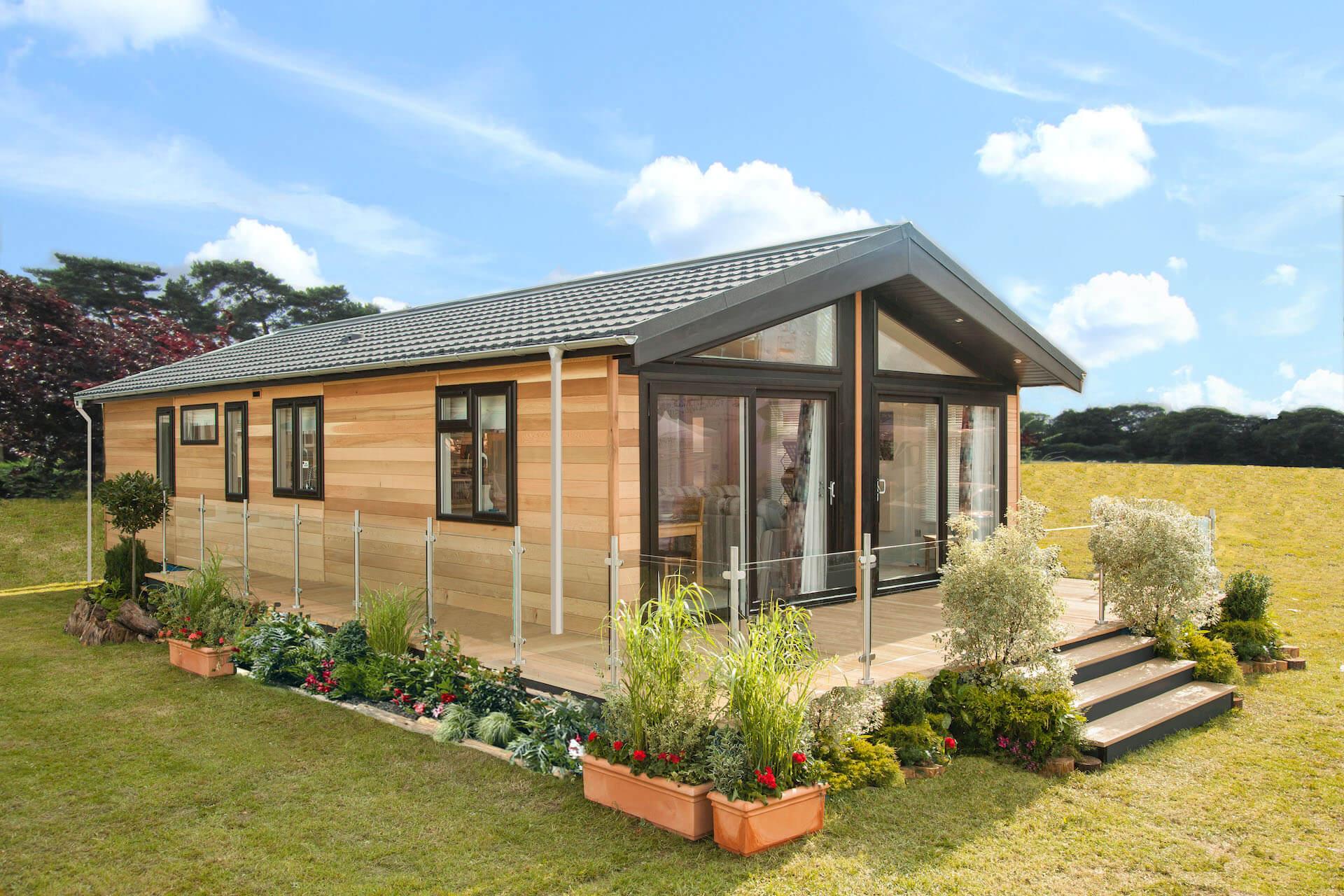 Wessex-Contemporary-Luxury-Lodge-Exterior-Cedar-Clad